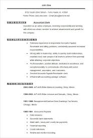 Clerical Resume Templates Inspiration Accounting Resume Templates 24 Free Samples Examples Format