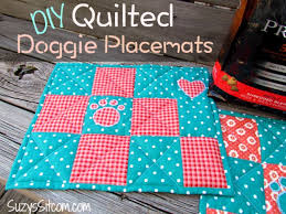 37 Quilted Gift Ideas You Can Make For Just About Anyone - Page 7 ... & Best Quilting Projects for DIY Gifts - DIY Quilted Doggie Placemats -  Things You Can Quilt Adamdwight.com
