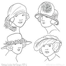 Ladies Hat Coloring Pages Onepieceatatimeinfo
