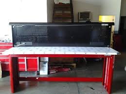 craftsman metal workbench. craftsman work bench 8 feet stainless steel top? - the garage journal board metal workbench