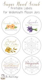 printable labels for mason jars new diy sugar hand scrub printable labels the birch cottage