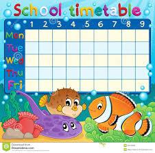 School Timetable Theme Image 6 Illustration 32479059 Megapixl