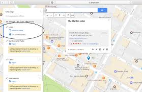10 step tutorial to make a custom google map for your next trip Add Destination New Google Maps in this instance) will show up on the map along with a box which gives info on that place the address, website link, etc click \u201cadd to map \u201d add destination in google maps