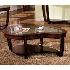furniture of america curve dark cherry glass top coffee table cherry coffee table with glass top