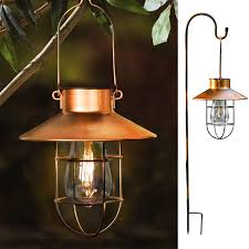 Gigalumi Hanging Solar Lights Rojoy Hanging Solar Lights Lantern Lamp With Shepherd Hook Metal Waterproof Edison Bulb Lights For Garden Outdoor Pathway