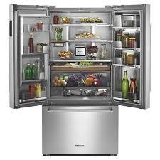 kitchenaid french door refrigerator. kitchenaid - krfc704fss french door refrigerators · larger image open empty filled kitchenaid refrigerator