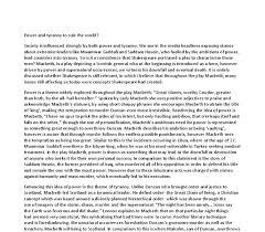 macbeth desire for power essay custom paper academic service macbeth desire for power essay