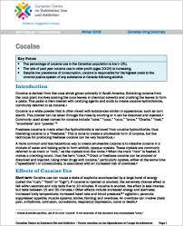 Cocaine Canadian Drug Summary Canadian Centre On