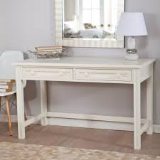 Diy White Bedroom Vanity Table With Rectangle Wall Mirror And