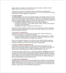 Microsoft Business Plans Templates Microsoft Business Plan Template 17 Free Example Sample Format