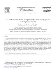 the relationship between entrepreneurship and unemployment is the relationship between entrepreneurship and unemployment is an outlier pdf available