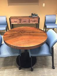 round table lake oswego round black walnut table top and custom black walnut console table built round table lake oswego
