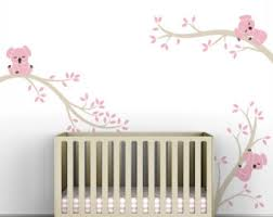 ... Bold Inspiration Baby Girl Wall Decor Kids Grey Pink Sticker Decal Room  Modern ...