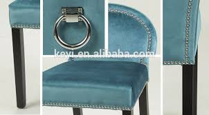 modern design with head nail fabric dining living hotel ring back chair ky