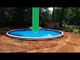 sunken above ground swimming pools.  Swimming Dropping An Above Ground Pool In The The Details To Sunken Swimming Pools S