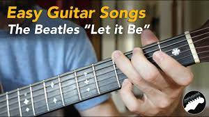 We may earn an affiliate commission if you buy or subscribe through our links. Easy Beginner Guitar Songs The Beatles Let It Be Lesson Chords And Lyrics Youtube