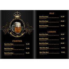 Pub Beer Menu Vintage Styles Vector 10 Free Download