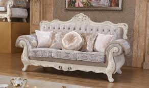 Traditional Living Room Set 638 Venice Traditional Living Room Set In Rich Pearl White By