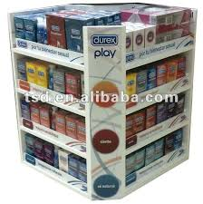 Table Top Product Display Stands TSDC100 Custom Retail Store Cardboard Condom Display Stand 68