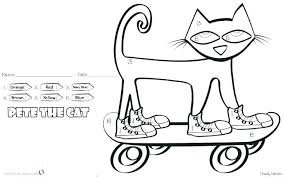 Pete The Cat Easter Coloring Pages The Cat Coloring Page Medium Size