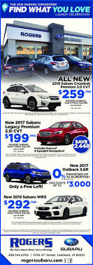 2018 subaru discounts.  discounts the 2018 subaru crosstrekfind what you lovelaunch celebrationrogersall  new2018 subaru crosstrekpremium 20 cvt259rogers subarueasy for subaru discounts