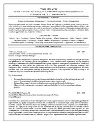 Resume Templates Project Manager Industry Leading Construction