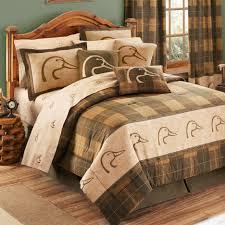 Twin Bedding Sets Lodge Quilt Set Bear And Moose Comforter Set Fleur ...