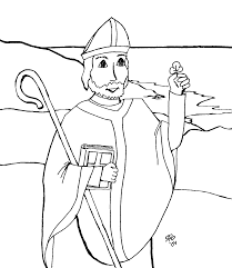 St Patrick Coloring Page
