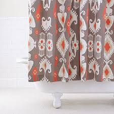coral and brown shower curtain. grey/coral ikat shower curtain | bathroom| bed \u0026 bath world market coral and brown l