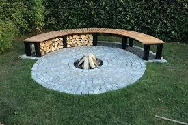 building a fire pit build bench diy patio area ideas on concrete outdoor cinder blocks