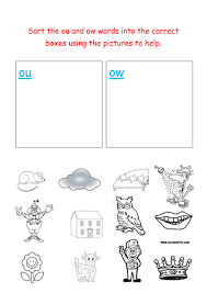 Learn about the vowel diphthong ow with a fun activity! Jolly Phonics Sorting Ou And Ow Words Teaching Resources