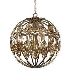bronze orb chandelier