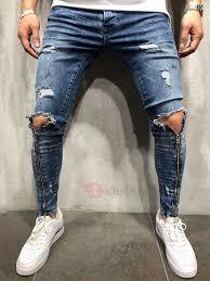 pantalones de moda para hombre rotos