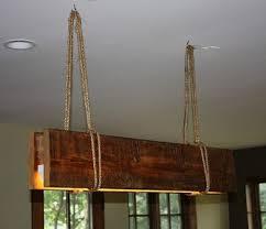 rustic reclaimed wood suspended lamp rustic wood beam chandelier diy