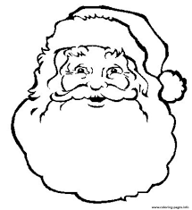 Face Of Santa Claus S Coloring