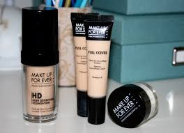 full coverage makeup their hd foundation their full cover concealer and their hd powder