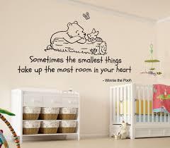 winnie the pooh smallest things nursery wall art vinyl sticker decal mural