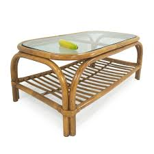 glass top bamboo coffee table for