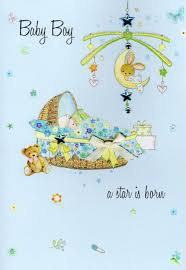 Congratulations On Your Baby Boy New Baby Boy Congratulations Card Water Colours By Second Nature Cards