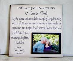 Good 40th Wedding Anniversary Gift For Parents