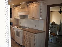Pickled cabinets are one of the biggest trends in interior design today. Pin By Amy Brown On For The Home White Kitchen Cupboards Whitewash Cabinets Old Kitchen Cabinets