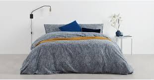 fleck kingsize 100 brushed cotton bed set midnight blue uk bedding sets linen bedding made com