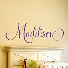 girls sticker bedroom home decor personalized name vinyl wall decal nursery