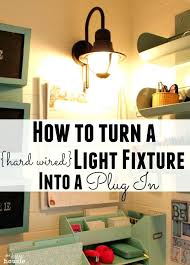 idea convert pendant light to plug in for how to turn a hard wired light fixture