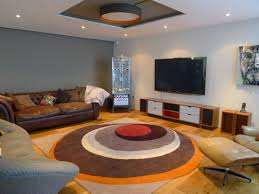 modern round rugs color