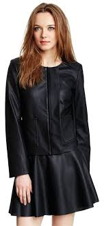 leather jacket vince camuto womens