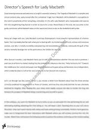 macbeth director s speech for lady macbeth year qce  macbeth director s speech for lady macbeth