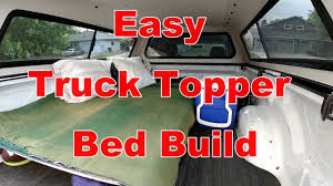 How To Build A Simple Truck Topper Bed For Truck Camping - YouTube