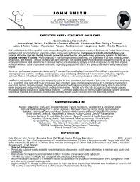 Assistant Chef Resumes Sample Resume For A Chef Emelcotest Com