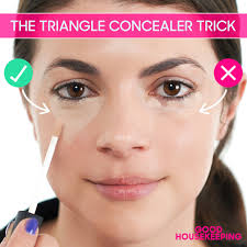 triangle concealer trick